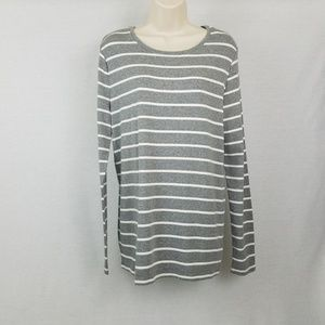 Crew Neck Long Sleeve Stripe Shirt A New Day
